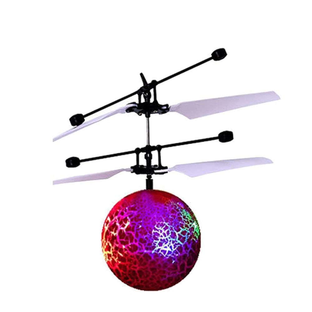 RC Flying Ball Built-in Music Flashing infraredHelicopter Sensor LED Toys Kids