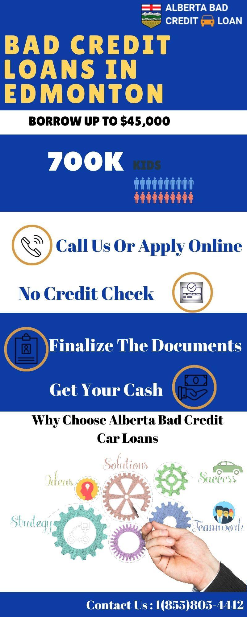 Bad Credit Car Loans In Edmonton Quick Approval Bad Credit Car Loan Car Loans Credit Cars