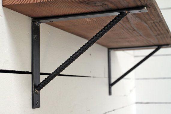 10 rebar shelf bracket interiors pinterest regal halterung regal und halterung. Black Bedroom Furniture Sets. Home Design Ideas