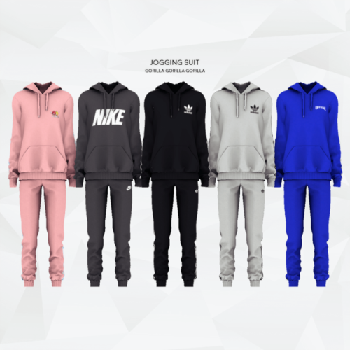 Jogging Suit for The Sims 4 | Sims, Sims 4 contenu