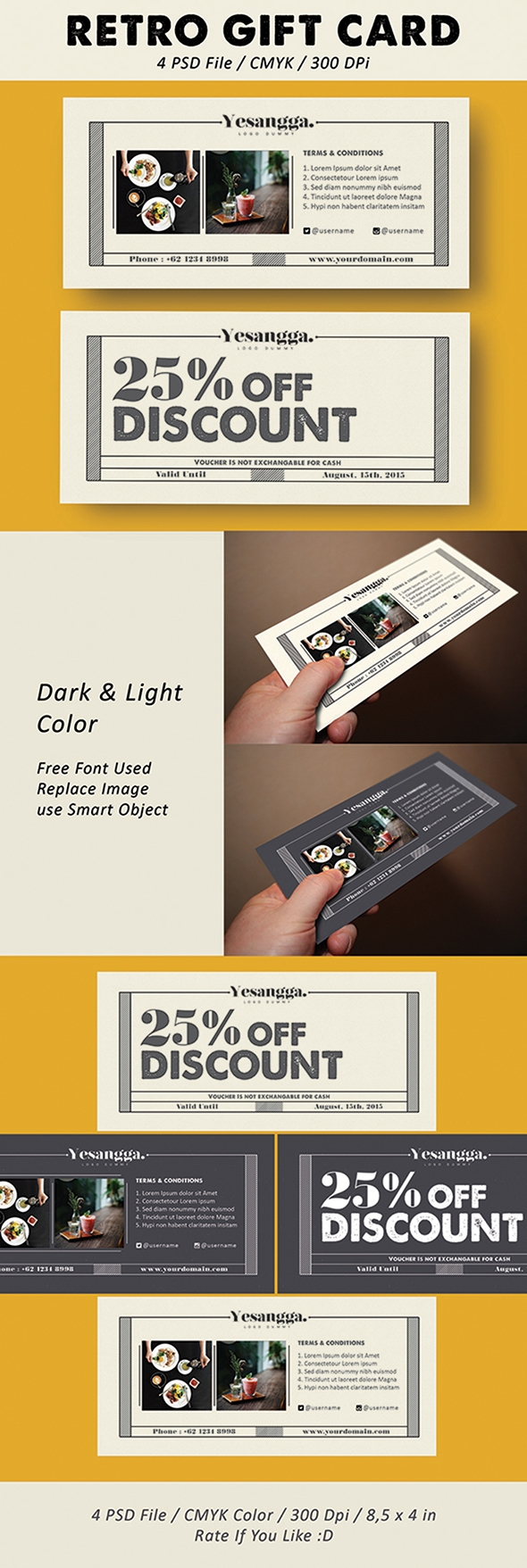 Free retro gift card template business cards pinterest gift free retro gift card template yelopaper Image collections