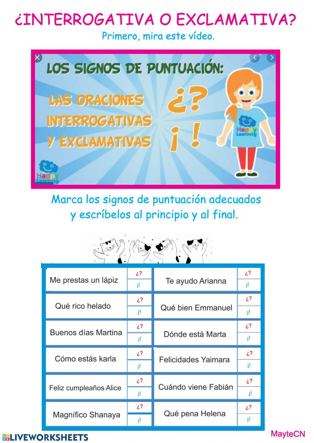 Signos de puntuación interactive and downloadable
