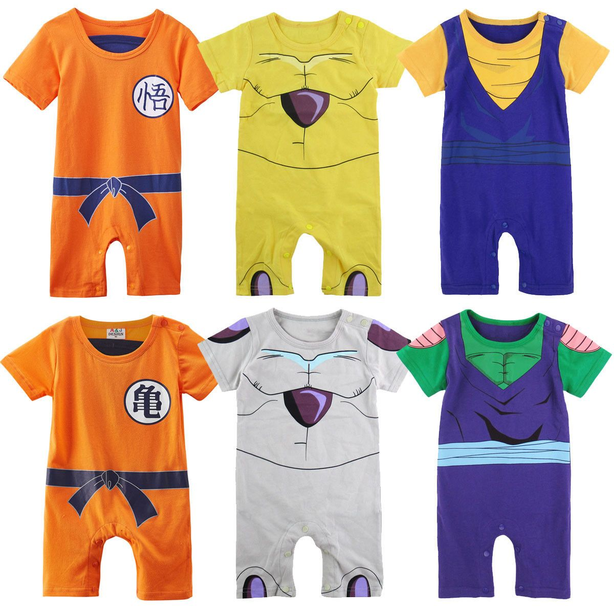 Baby Boy Dragon Ball Costume Romper Newborn Outfit Infant Playsuit Jumpsuit Set