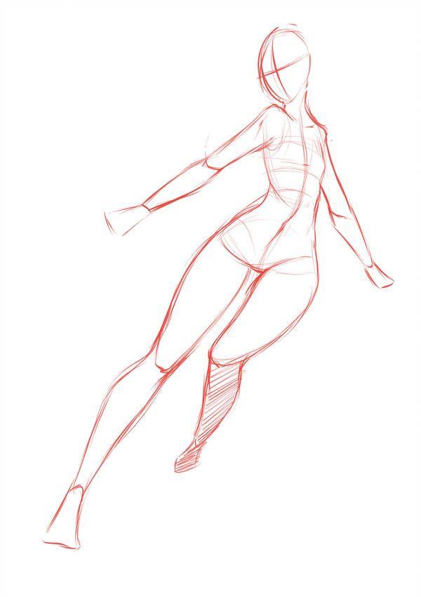 Pose by rika-dono | art to make | Drawings, Manga poses, Anime poses