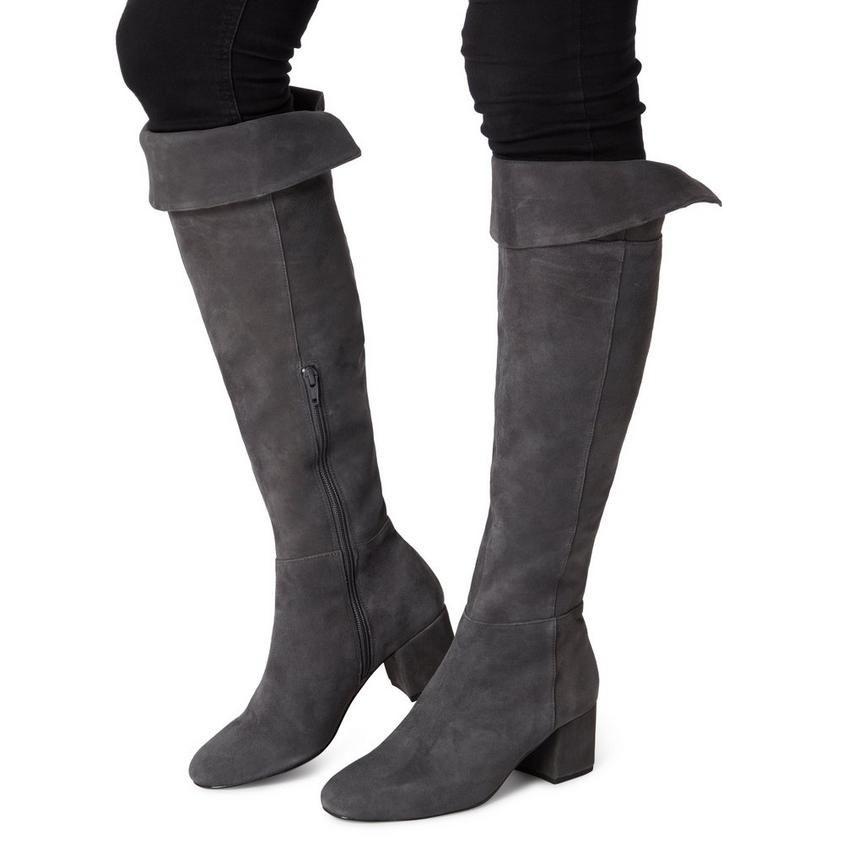 SPEARS - Knee High Heeled Boots - grey
