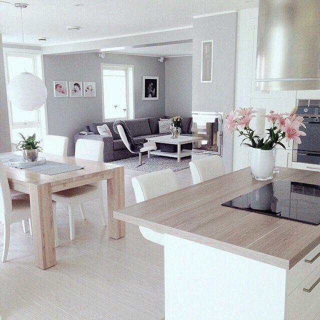 Open Space Kitchen Designs: Home Decor, Living Room Decor, Cozy