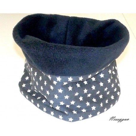 add4cbac69f71 Snood / tour de cou enfant bleu avec étoiles blanches | foulards ...