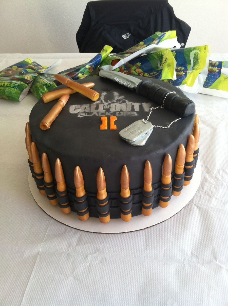 Call Of Duty Black Ops 2 Birthday Cake Call Of Duty Black Ops 2