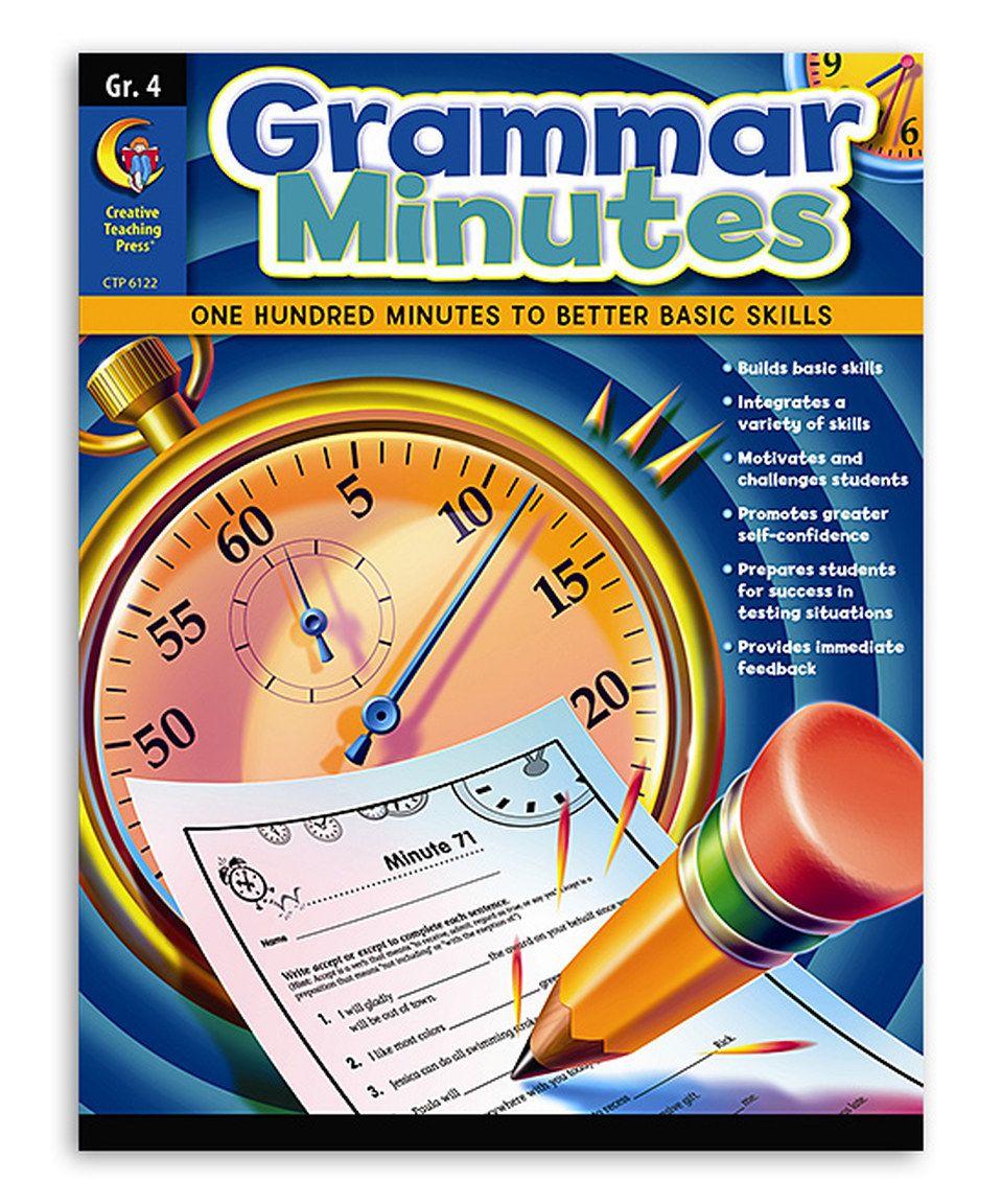 Workbooks grammar and punctuation workbook : Grade 4 Grammar Minutes Workbook by Creative Teaching Press ...