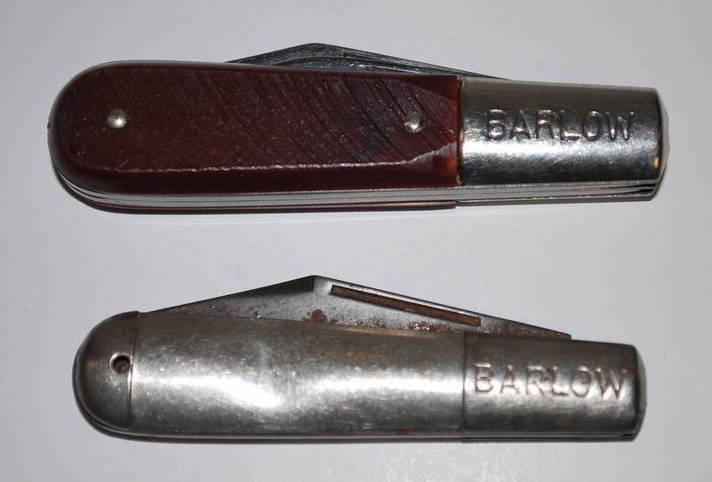2 Vintage Folding Blade Pocket Knives Barlow Imperial