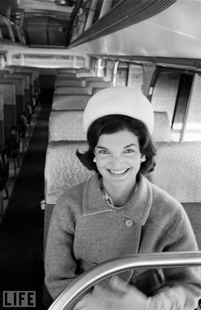 An unpublished photo by the great Alfred Eisenstaedt captures Jackie Kennedy somehow looking at once regal and wholly at ease while seated on a bus. (see more unpublished photographs of JFK & Jackie here: http://on.life.com/t1znST )