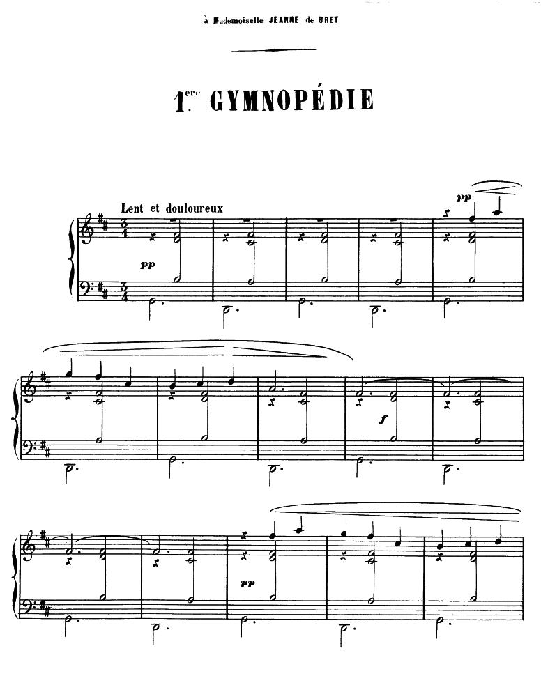 3 Gymnopédies (Satie, Erik) - IMSLP/Petrucci Music Library
