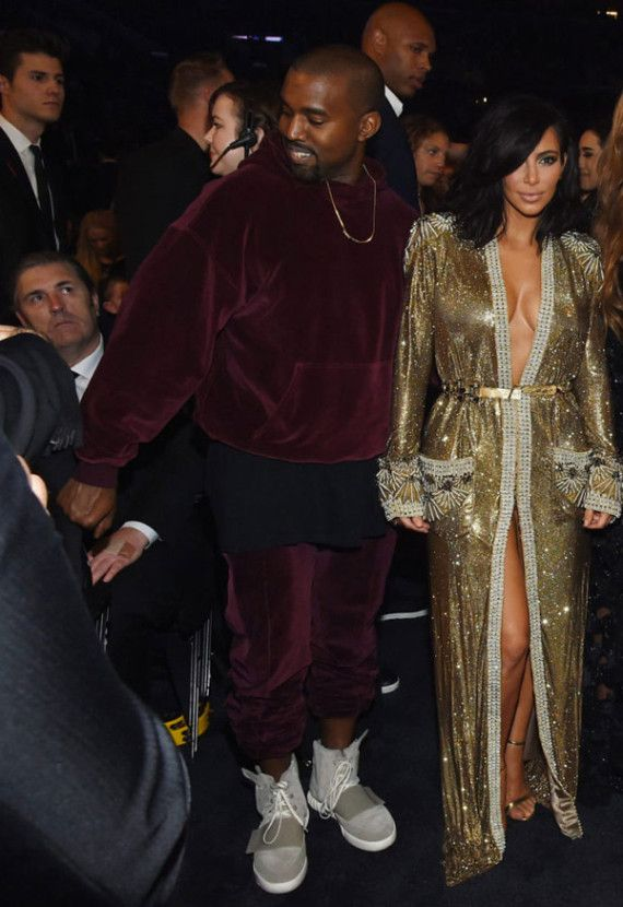 Kanye West Wears Adidas Yeezys Tracksuit Grammys Kanye West Adidas Kanye West Adidas Yeezy Kim Kardashian