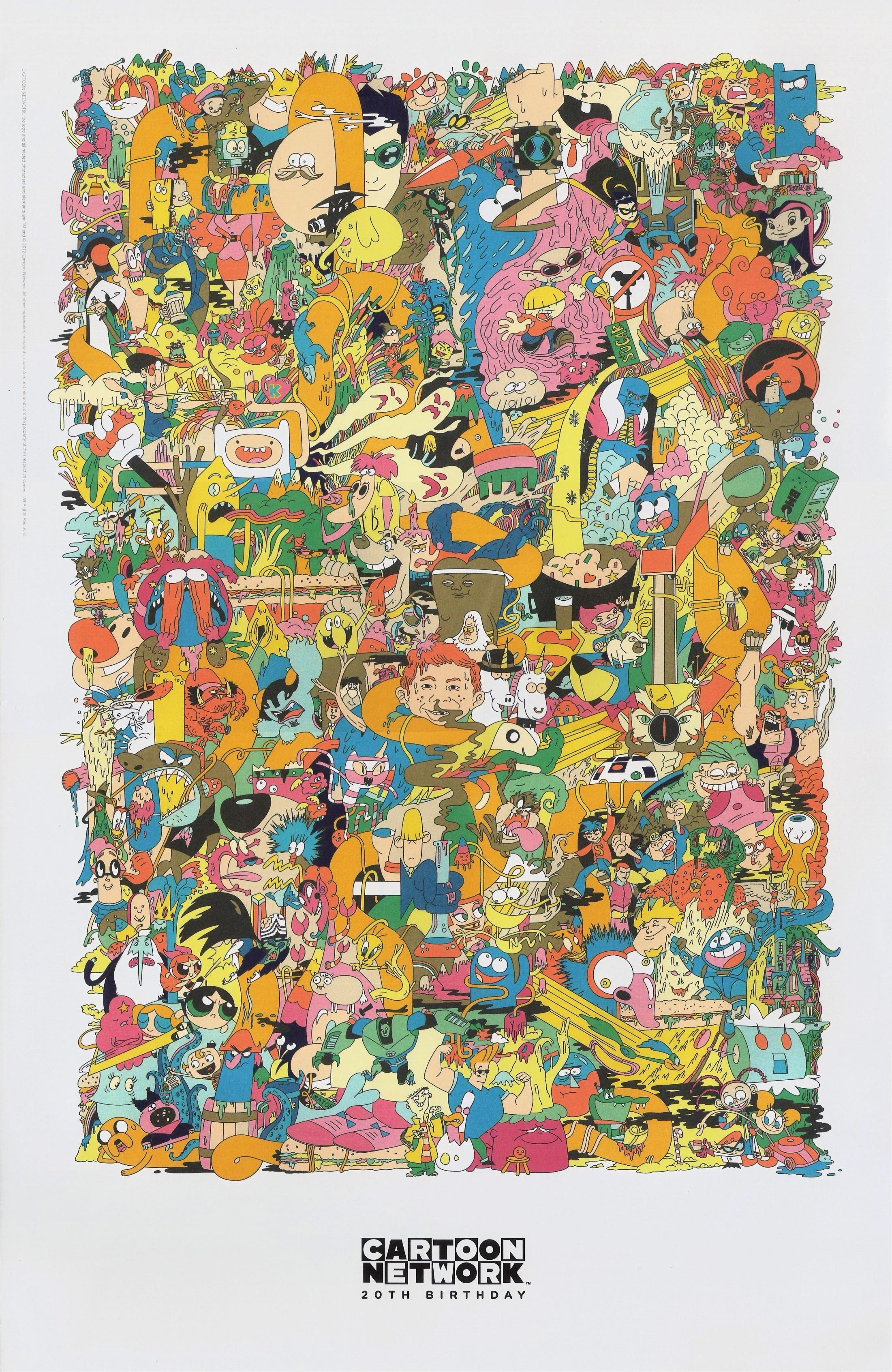 cartoon network s 20th anniversary poster misc pinterest