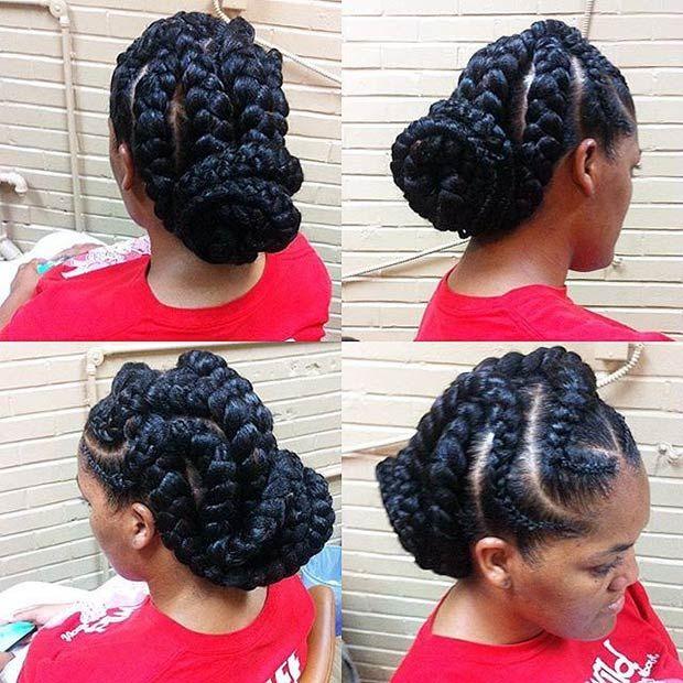 31 Göttin Zöpfe Frisuren für schwarze Frauen #frauen #frisuren #gottin #schwarze #zopfe #goddessbraids