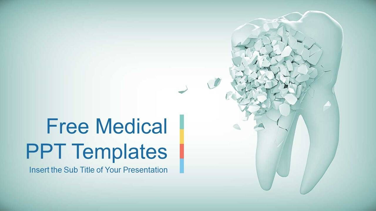 This Is A Dental Powerpoint Template With Broken Teeth As The Cover Background Picture Highlighting T Powerpoint Powerpoint Templates Powerpoint Presentation