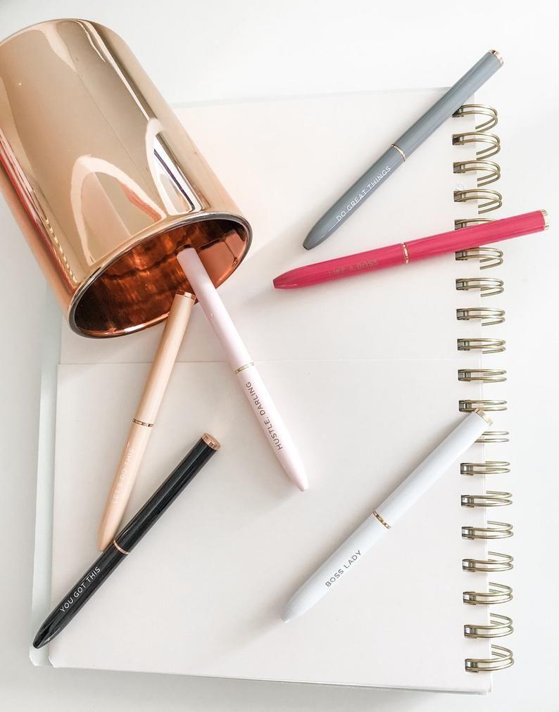Boss lady pen set stocking stuffers for women boss etsy