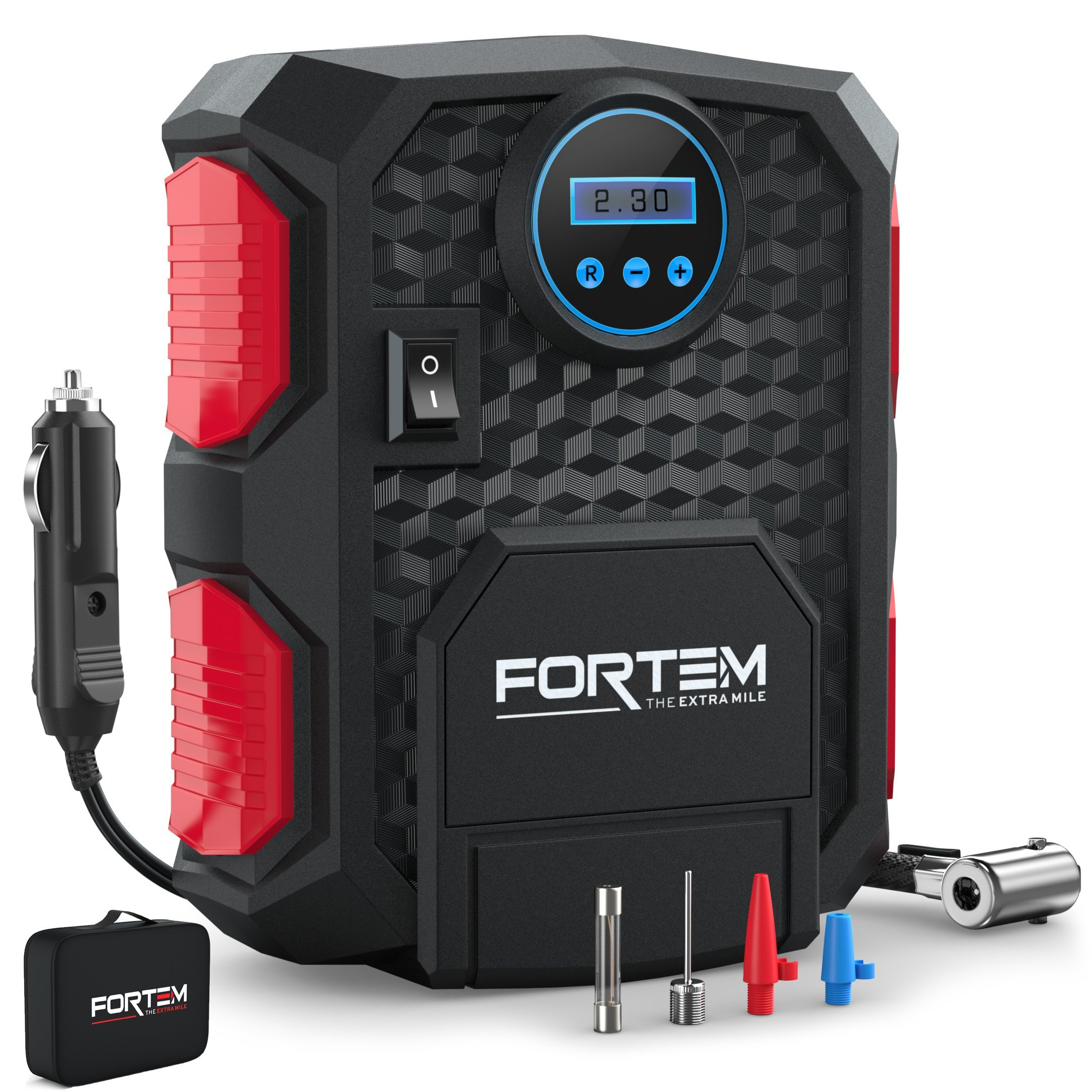 Digital Tire Inflator for Car W/Pressure Gauge Portable