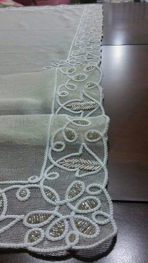 Alambre de Metal Flor Cinta Ribete de Encaje de ganchillo Artesanía Coser apliques bordados