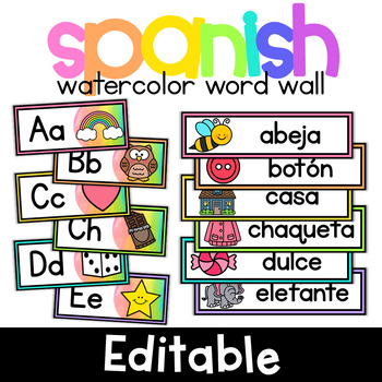 Brighten Up Your Word Wall With These Colorful Watercolor Alphabet Headers And Word Cardseach Header Includes A Cu Word Wall Word Wall Cards Alphabet Word Wall