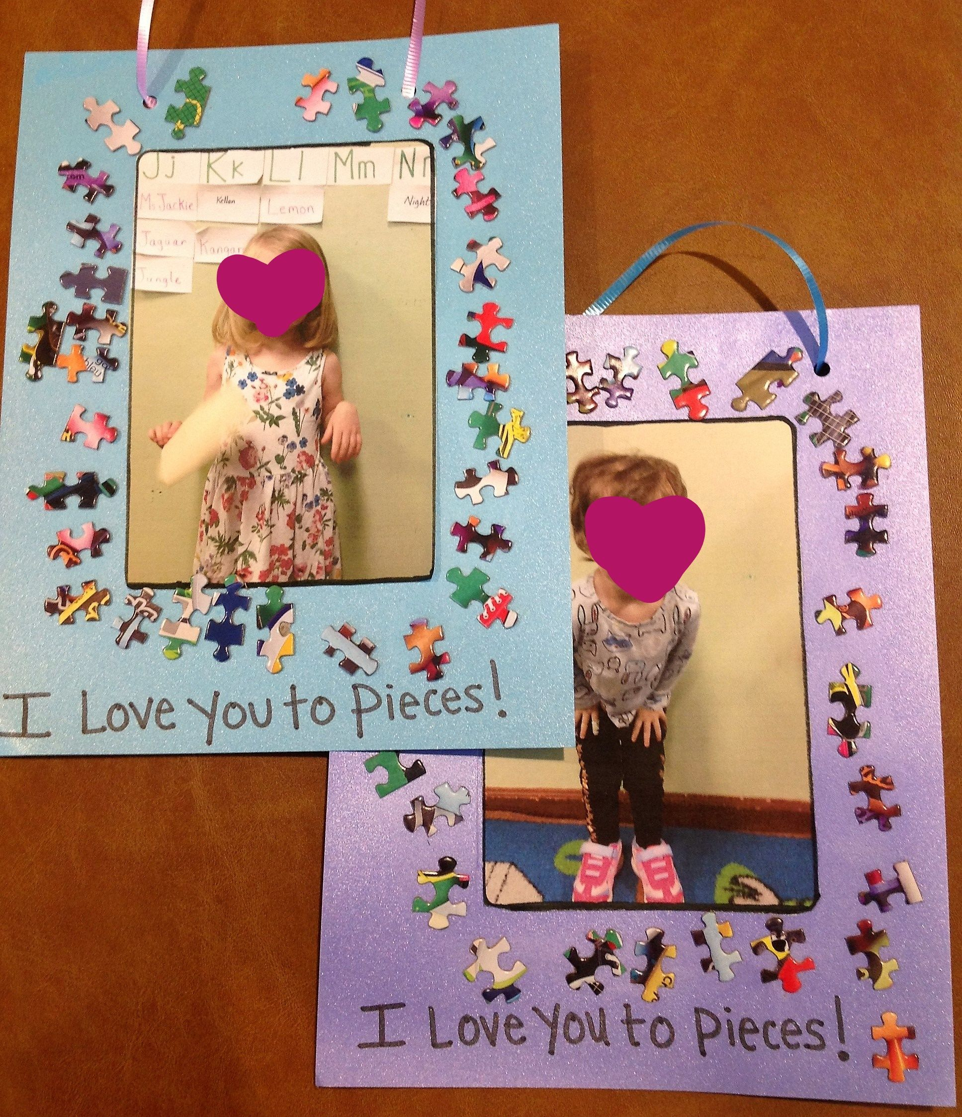 I Love You To Pieces Diy Puzzle Piece Picture Frame