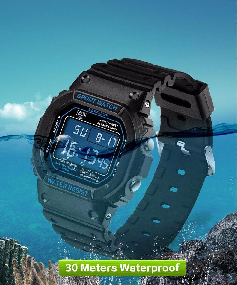 d8861c8ee7d Aliexpress.com   Buy SANDA Womens Watches Top Brand Luxury Led Digital 30M  Waterproof Wrist