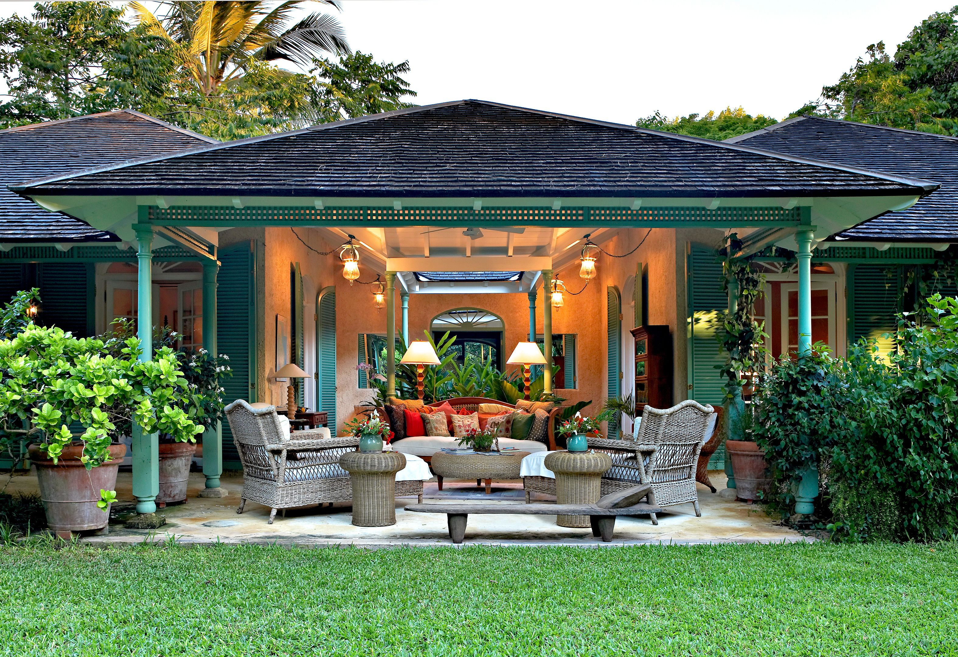 Caribbean Style Homes in Mexico | caribbean interior style ... on Outdoor Living Space Builders Near Me  id=32730