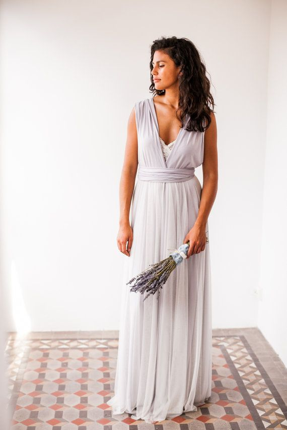 Pearl Gray Tulle Wedding Dress Light Heather By Mimetik This Is A Quick Fix For The Bride Who Doesn T Want To Or Have Time Wait Made