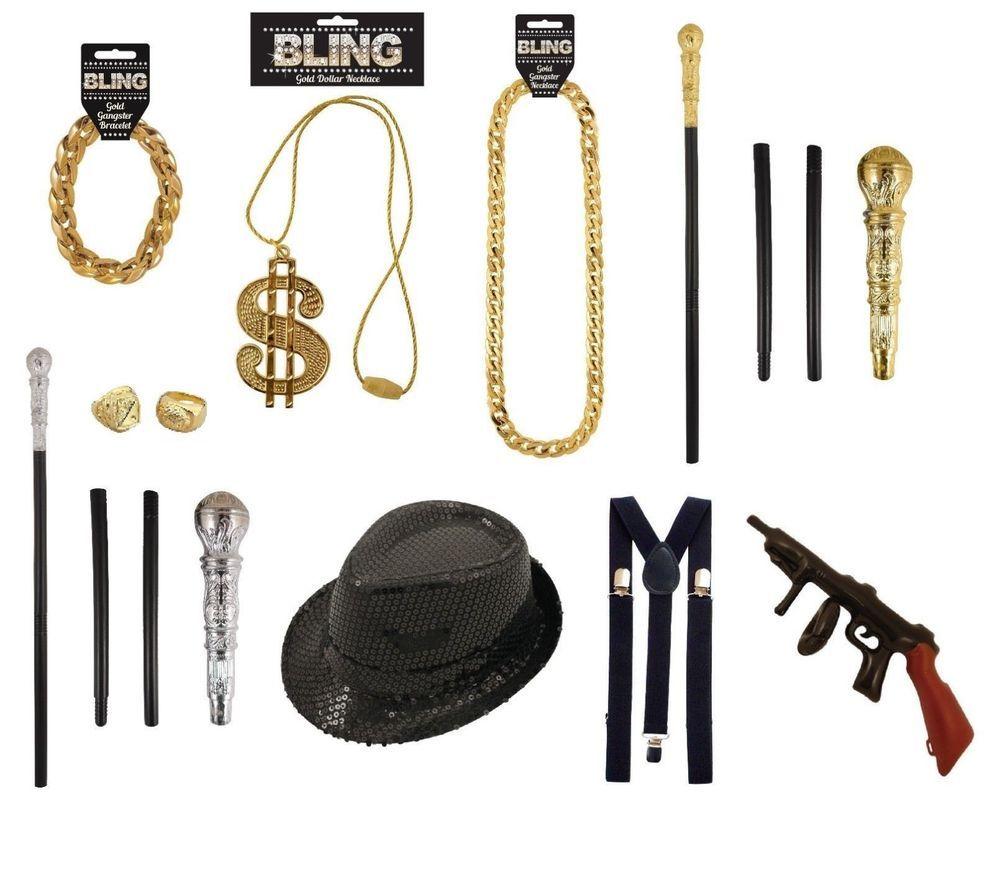80s Fancy Dress Hip Hop Run DMC Rapper Boom Box Chain Hat Glasses Microphone Kit