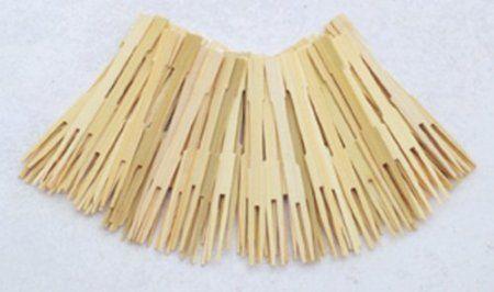 72 Bamboo Appetizer Forks