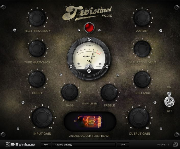 Twisthead VS-206 VST analog preamp effect | M factory