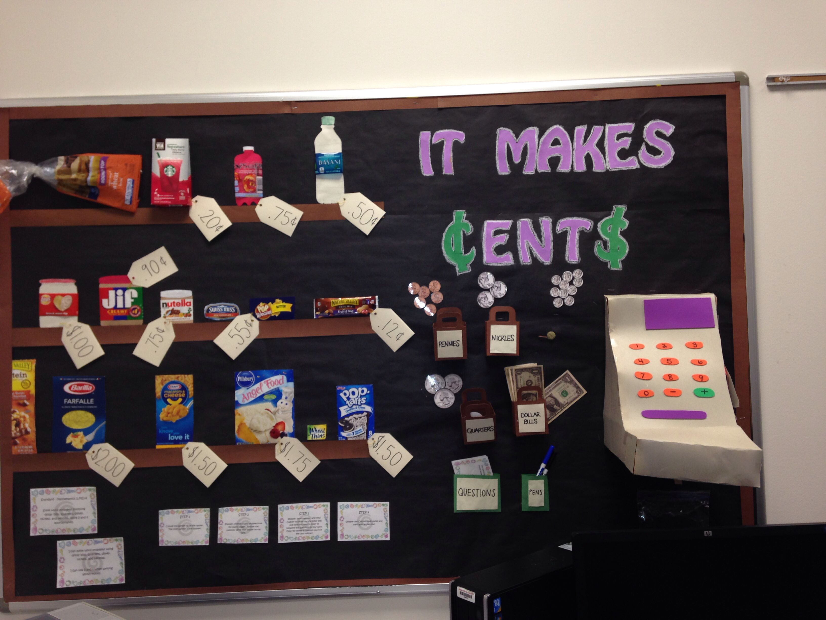 It Makes Cents Bulletin Board About A Grocery Store