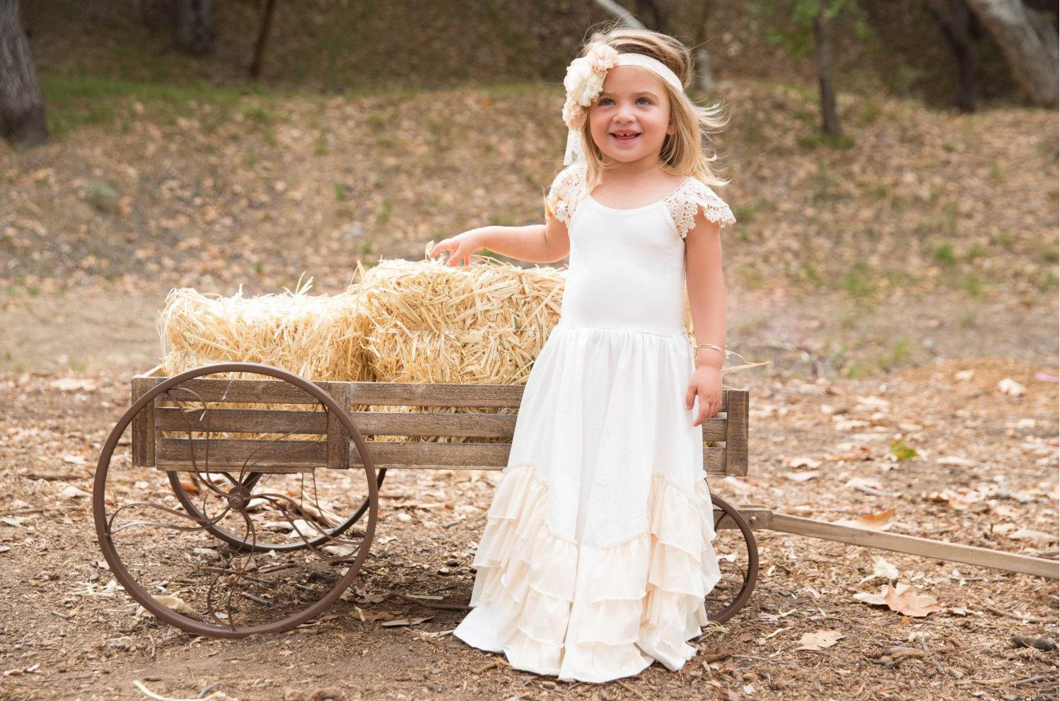 Ussimple capsleeved a line beaded flower girl dress