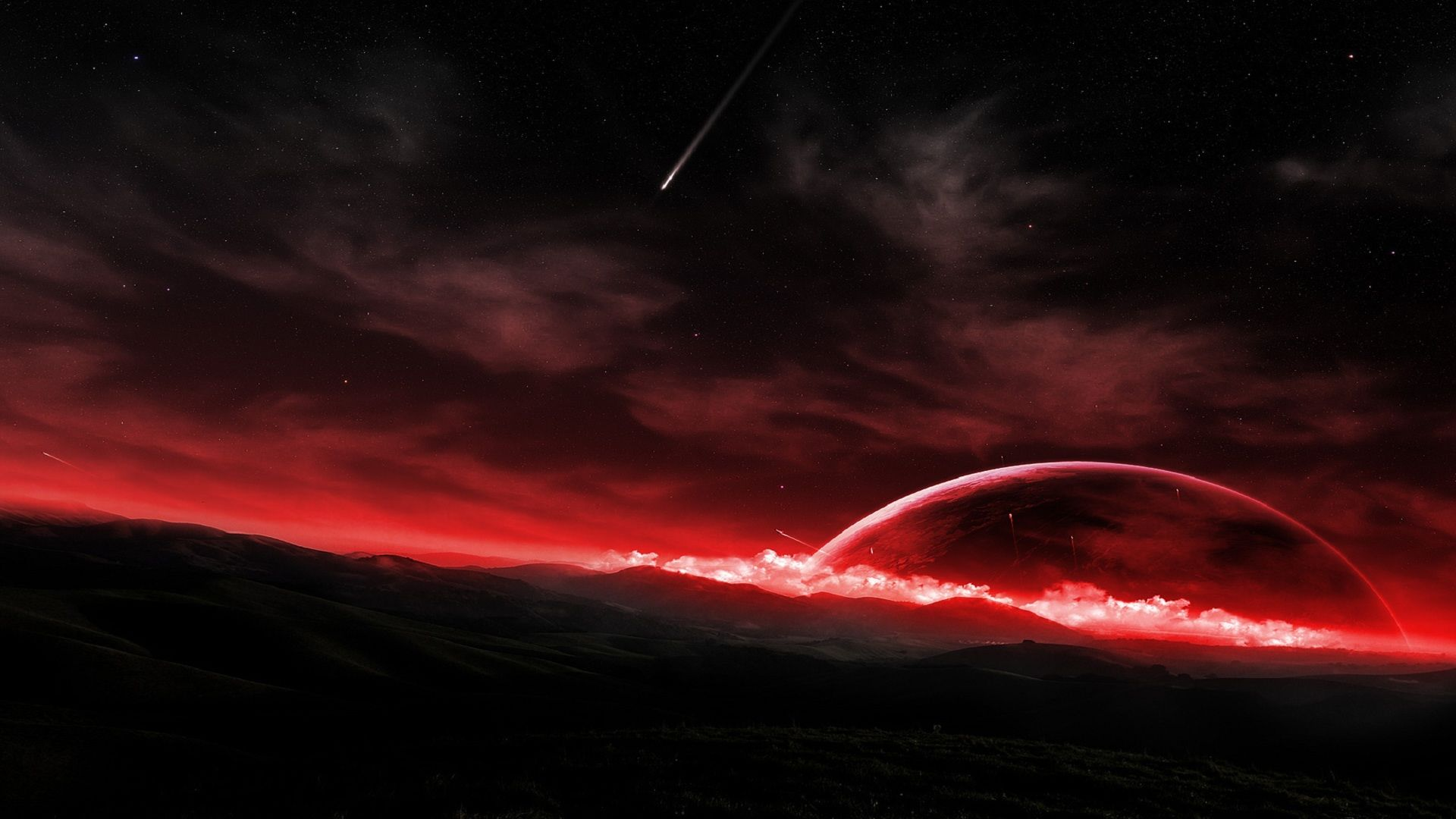 Space red digital wallpaper hd dekstop 7050wfzrw - Black space wallpaper ...
