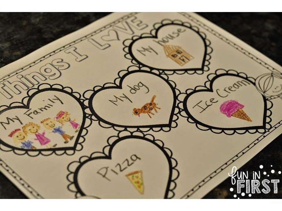 Fun in First Grade: Things I Love Book   February Projects
