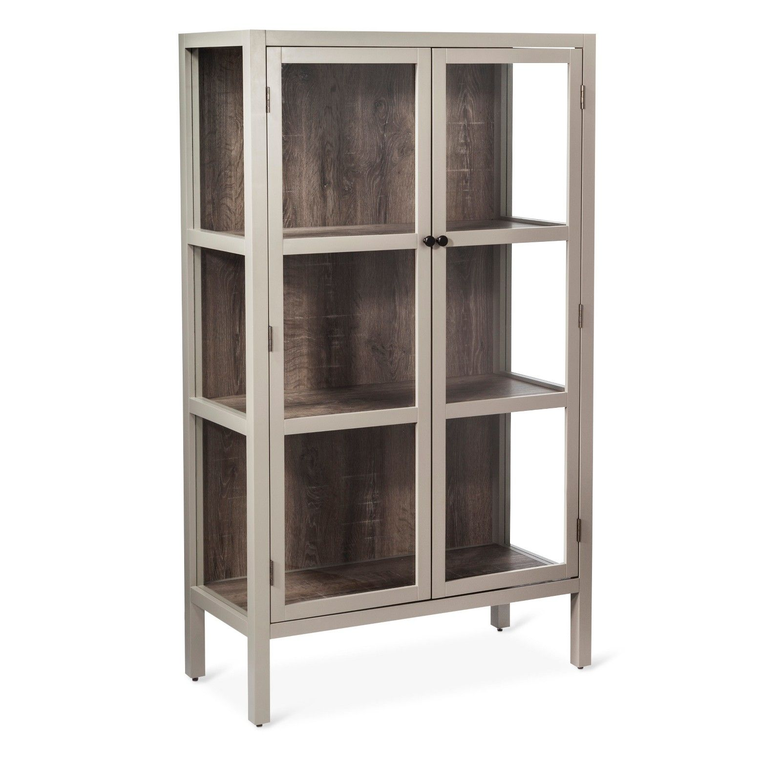 The Vista Library Cabinet With Glass Threshold Combines The