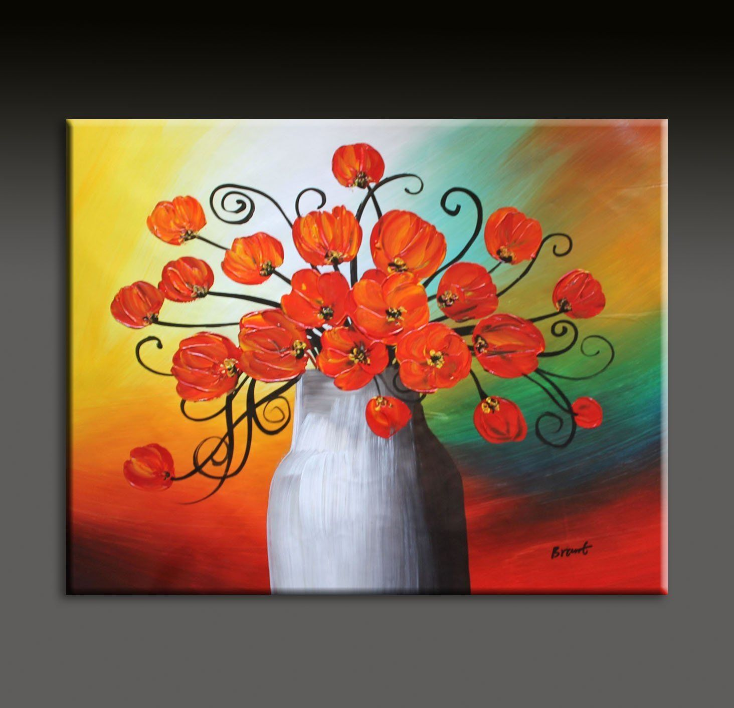 Brant Original Palette Knife Flower Painting