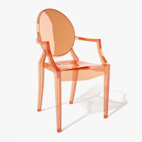 Kartell Louis Ghost chair, sunset orange - at mydeco.com - Shop for your home from Europe's best boutiques. This product is delivered by Found Homestore £184
