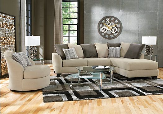 Picture Of Meridian Springs Beige 2 Pc Sectional From Sectionals Interesting Sectional Living Room Sets Decorating Inspiration