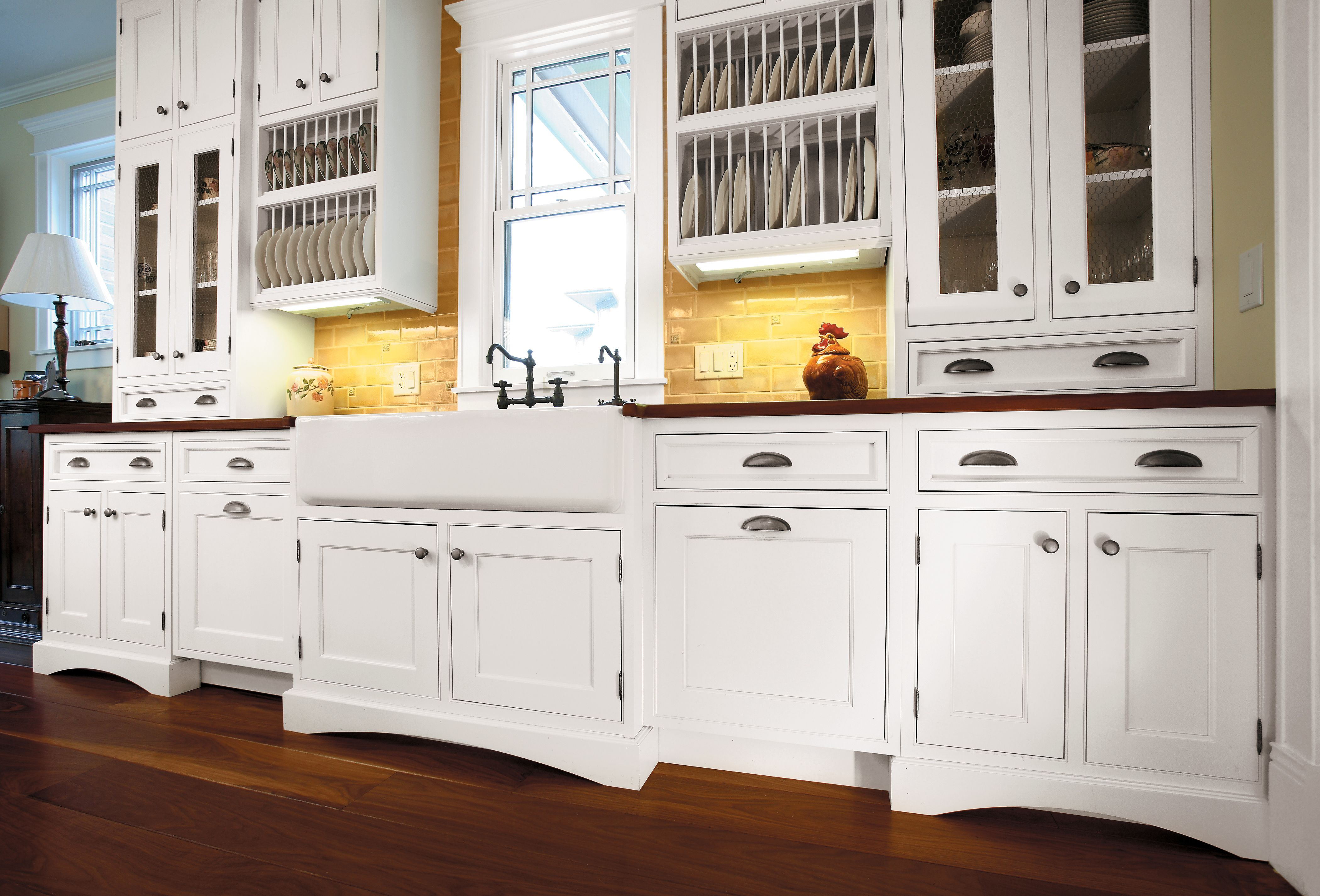Custom Door Style Finished In Frosty White On Pgm Designed By Landmark Kitchen Design Craftsman Kitchen Cabinets Shaker Style Kitchens New Kitchen Cabinets