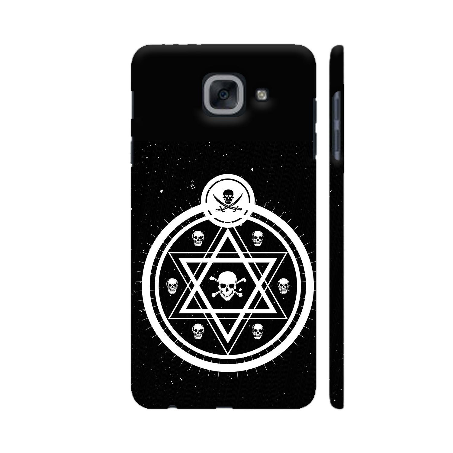 Victorian Astrology Skull On Black Samsung On Max Cover
