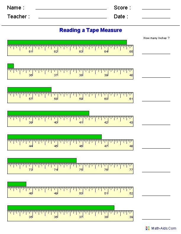 Reading a Tape Measure Worksheets click on create it to get the – Measuring with a Ruler Worksheet