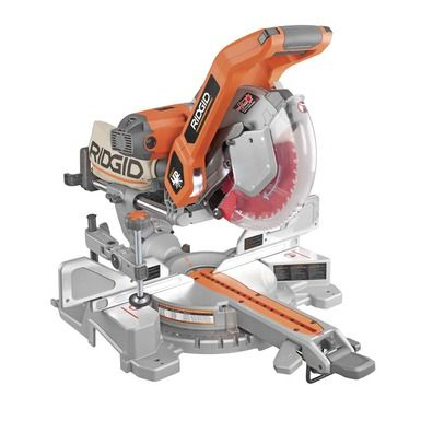 10 Sliding Dual Bevel Miter Saw With Dual Laser Guide Ridgid Professional Tools Jet Woodworking Tools Sliding Compound Miter Saw Tools