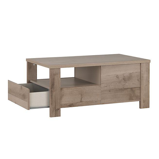 Sha Table Basse Bicolore Avec 2 Tiroirs Table Basse Meuble Deco Mobilier De Salon