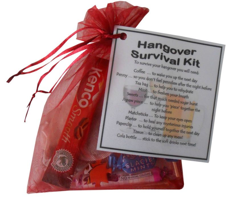 Unique Novelty Survival Kit: Hangover Survival Kit Gift. Great For Birthday, Stag Do