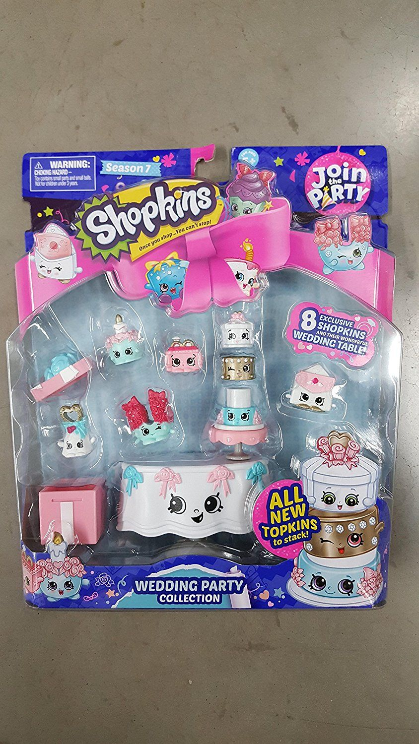 Amazon Com Shopkins Join The Party Theme Pack Wedding Party Collection Toys Games Shopkins Join The Party Shopkin Dolls Mermaid Toys