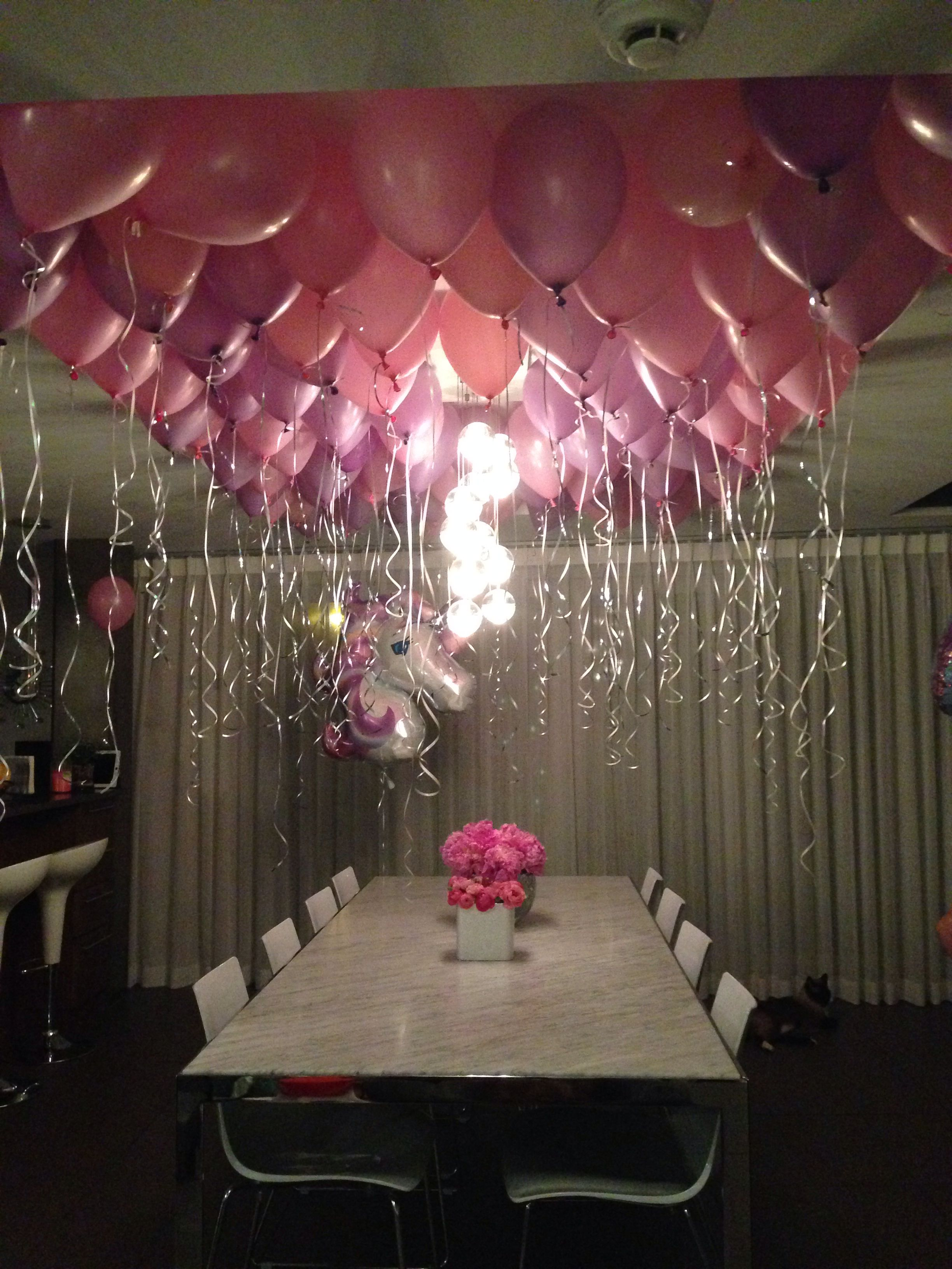 balloon display 6 year old girl's birthday | taylor glamour party in