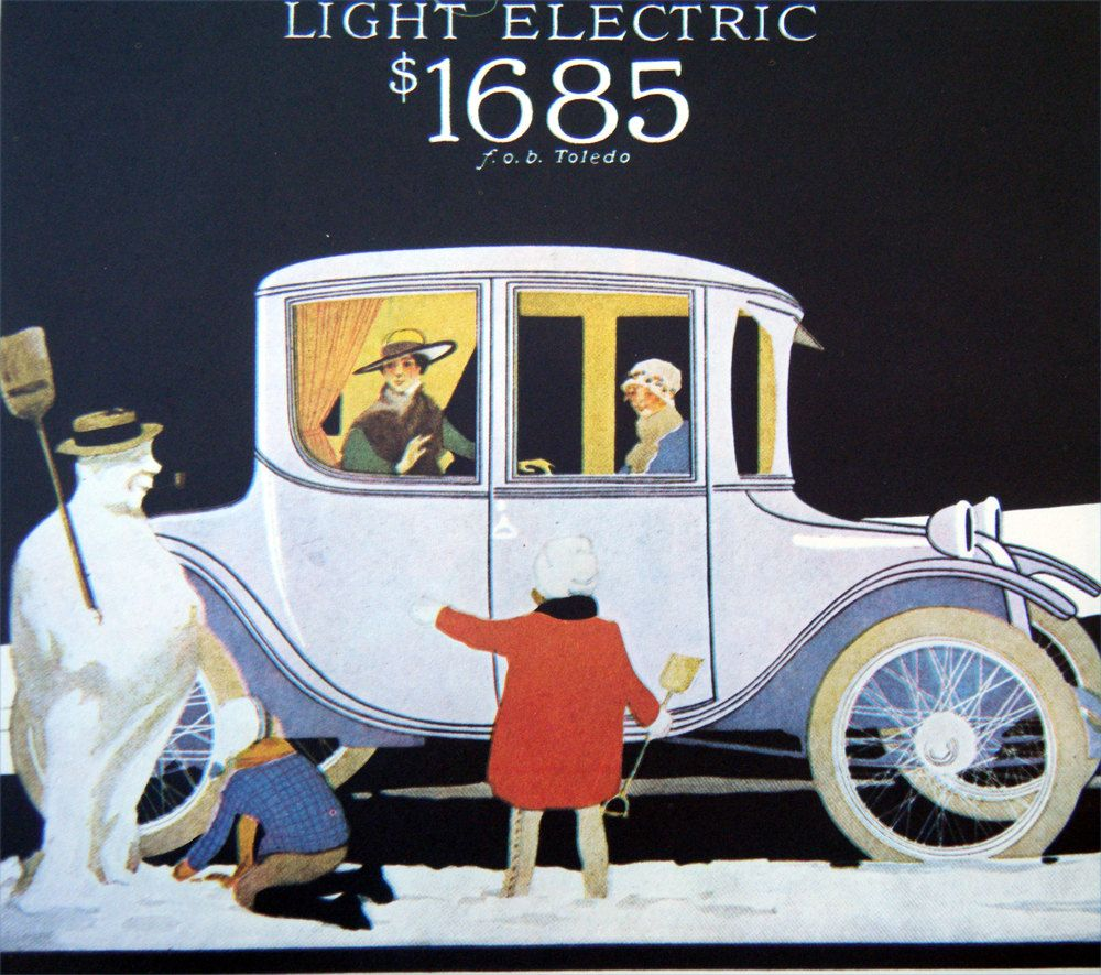 Milburn Electric Car Poster Vintage Posters Pinterest