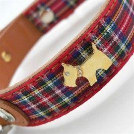 Highland Bling Red Dog Collar