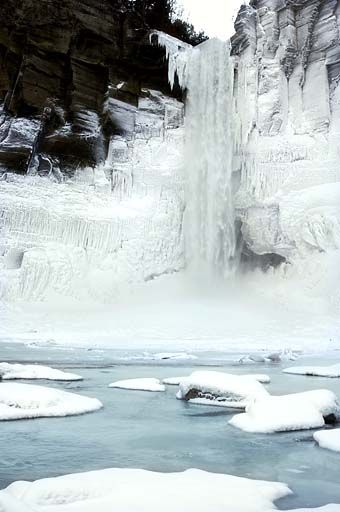 Taughannock Falls in the Winter Ithaca  Ulysses in